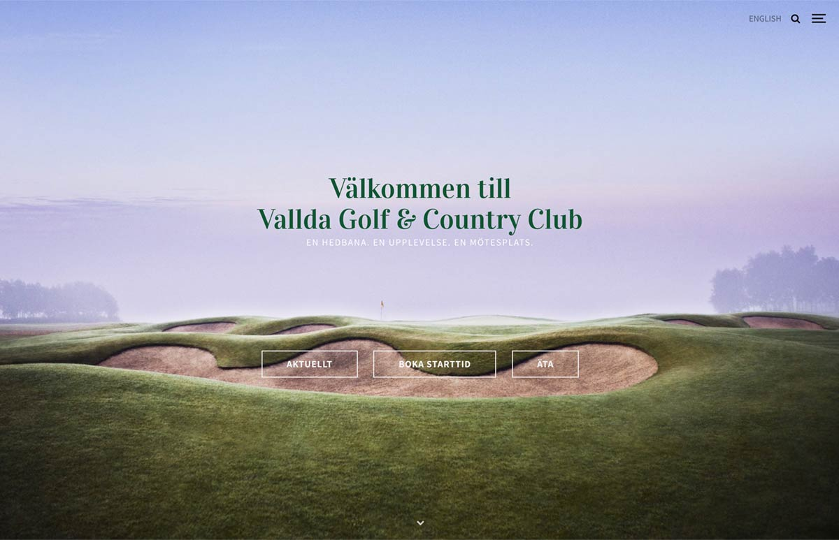 Vallda Golf & Country Club Website